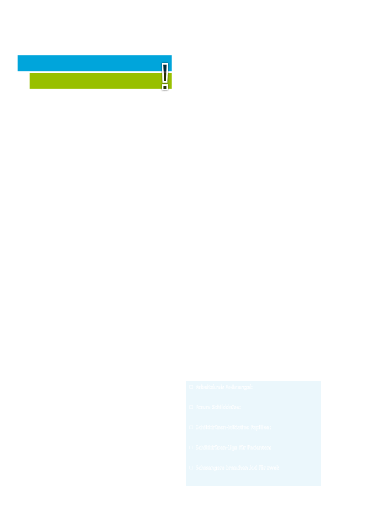 Broschüre Jod Mangel Und Jodversorgung In Deutschland